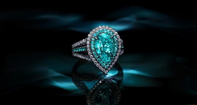 paraiba ring ad, paraiba ring photography, creative jewelry ad, jewelry ad