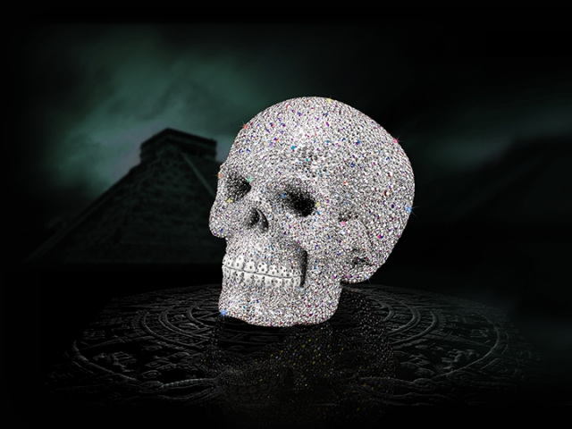 product ad, jewelry ad, skull, beautiful ad