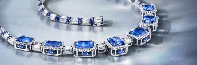 blue sapphire necklace ad, blue sapphire necklace photograph, jewelry ad, creative jewelry ad