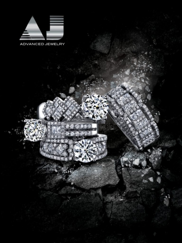 magazine ad, print ad, jewelry, rocks, moody, rings, engagement, jewelry ad, creative jewelry ad