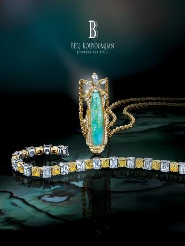 magazine ad, print ad, opal, jewelry, diamonds, necklace, bracelet, beautiful, dark, jewelry ad, creative jewelry ad