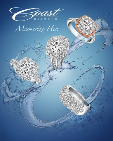 magazine ad, print ad, jewelry, engagement ring ad, ring ad, water, splash, dynamic, beautiful, creative jewelry ad