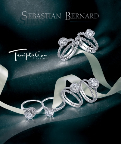 magazine ad, print ad, rings, engagement, dark, ribbon, beautiful, jewelry, jewelry ad, creative jewelry ad