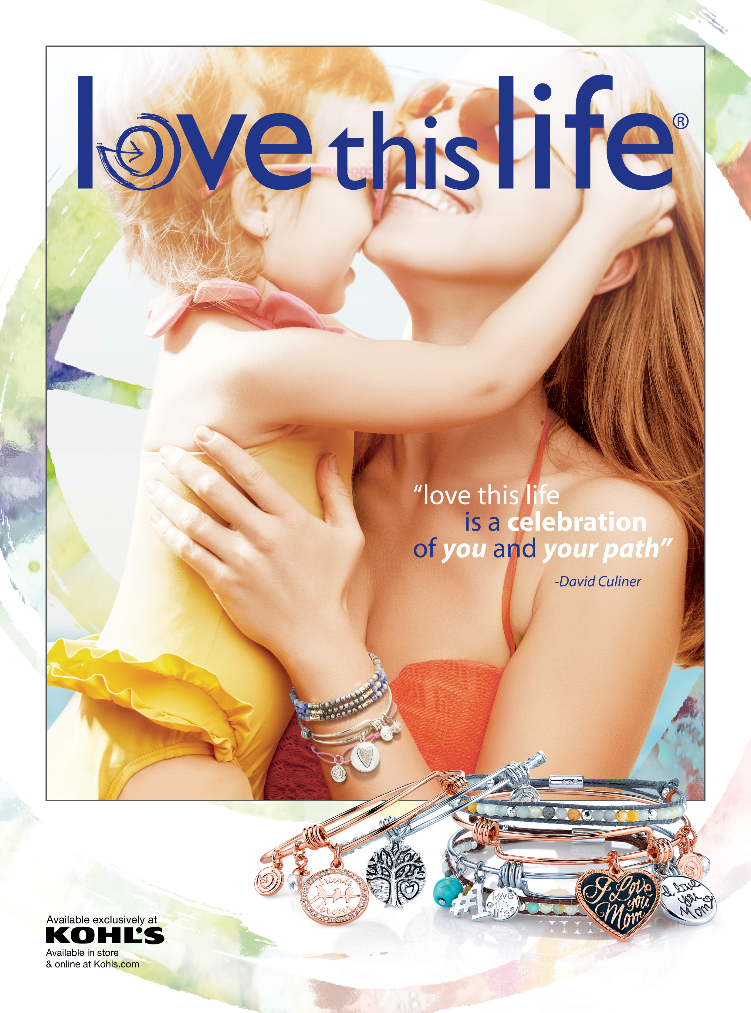 magazine ad, bright, family, bangles, instyle, love this life, creative jewelry ad, jewelry ad