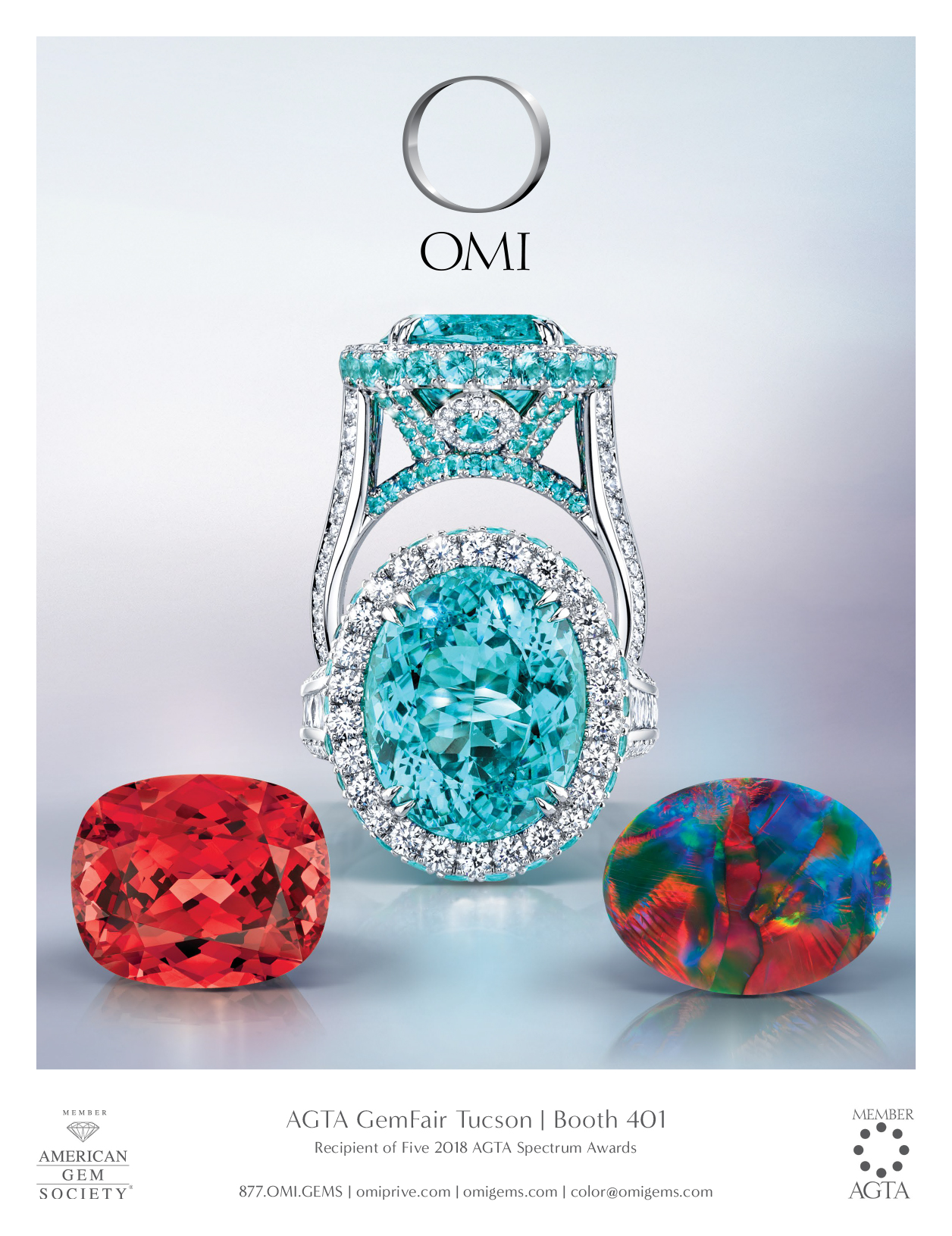 beautiful, paraiba, opal, tourmaline, print ad, jewelry ad, ring ad, creative jewelry ad