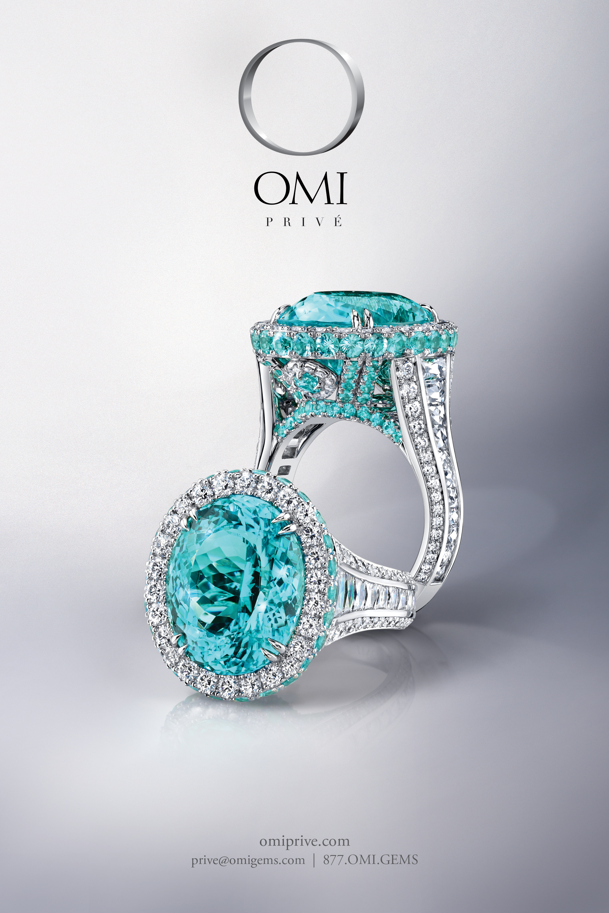 beautiful, paraiba, tourmaline, print ad, jewelry ad, ring ad, creative jewelry ad