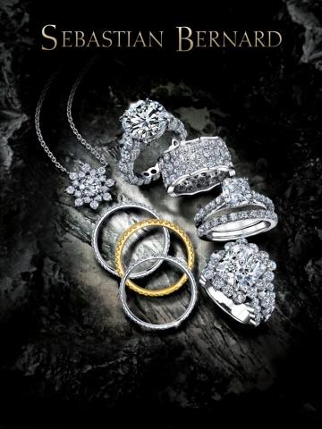 magazine ad, print ad, JCK, JCK magazine, jewelry, rings, pendant, moody, jewelry ad, creative jewelry ad