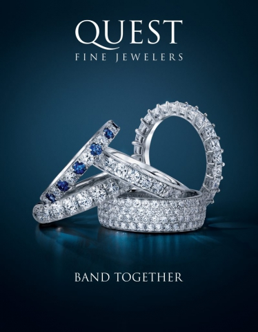 magazine ad, print ad, wedding bands, dark, blue, beautiful, jewelry, ring