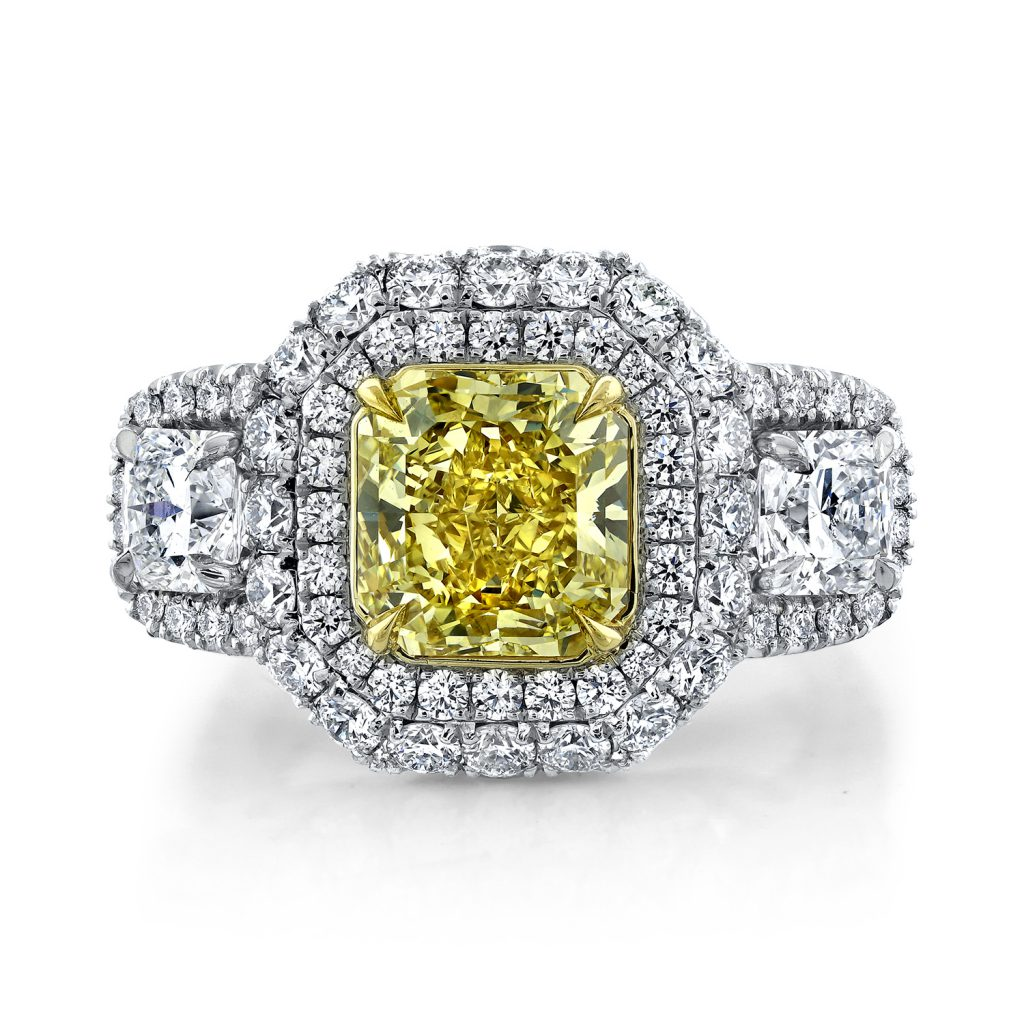 ring, gold, diamonds, yellow diamond, jewelry photography, beautiful ring