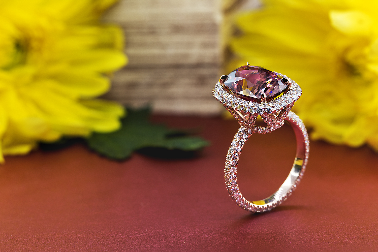 ring, gold, diamonds, jewelry photography, beautiful ring, rose gold